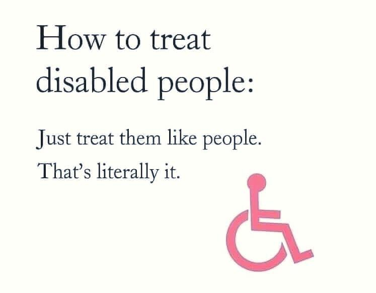 How to treat disabled people